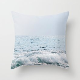 Ocean Waves Break on Big Island Shore Throw Pillow
