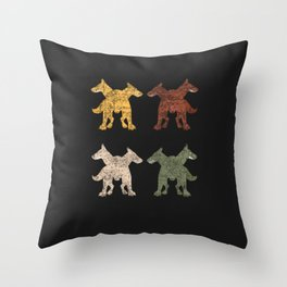 Cerberus Sixties Sunshine Throw Pillow
