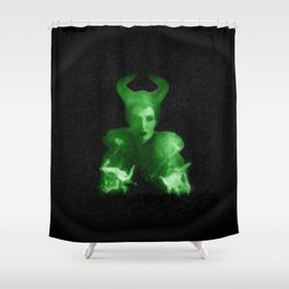Maleficent's Evil Spell / Sleeping Beauty Shower Curtain
