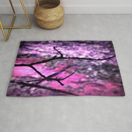 Pink Lavender Nature Abstract Rug