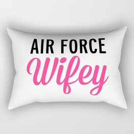 Air Force Wifey Quote Rectangular Pillow
