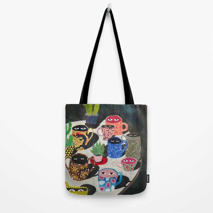Suspicious mugs Tote Bag