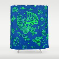 seahawks Shower Curtains featuring Seahawks Super Bowl Champion by Maioriz Home