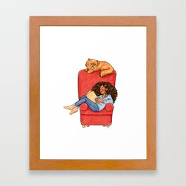 Reading fictional characters: Hermione Framed Art Print