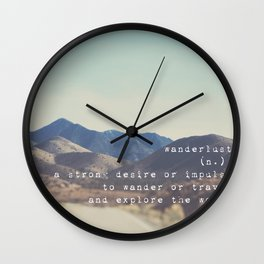 wanderlust ... Wall Clock