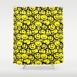 Smiley Face Yellow Shower Curtain