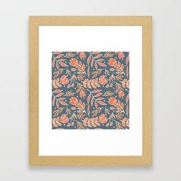 Loquacious Floral Framed Art Print