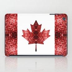 Canada flag red sparkles iPad Case