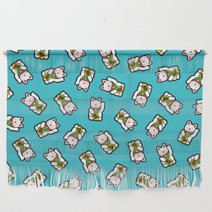 Lucky Cat Pattern Wall Hanging