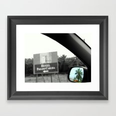 Paradise in the Rearview Framed Art Print