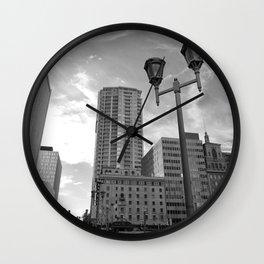 Black & White Downtown Phoenix Wall Clock