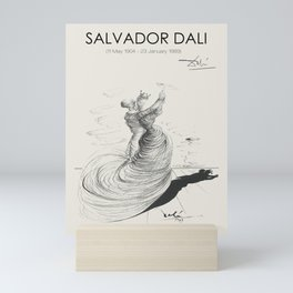 Vintage poster-Salvador Dali-Pencil drawing-Dance. Mini Art Print
