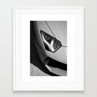 lamborghini Framed Art Prints featuring Lamborghini by Furqan Rauf