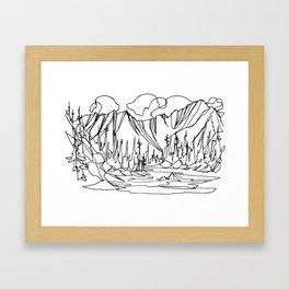 Ice Creek Lake, Valhallas :: Single Line Framed Art Print