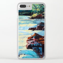 Toby Waters creek painting by Dennis Weber / ShreddyStudio Clear iPhone Case