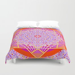 Temple Bell Vibrations Duvet Cover