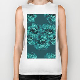 Turquoise Peony Flower Bouquet #1 #floral #decor #art #society6 Biker Tank