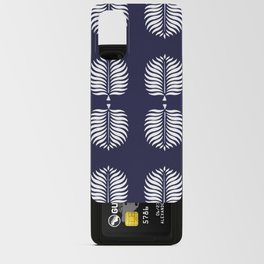 TROPICAL PALMS . BLUE + WHITE Android Card Case