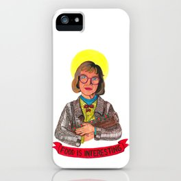 Yule Log Lady and Child iPhone Case
