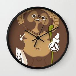 Japan Serie 5 - TANUKI Wall Clock