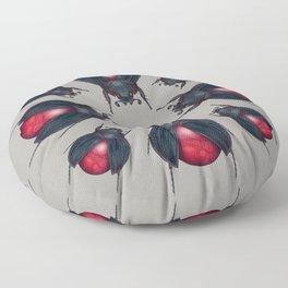 Red Jasper Beetle Floor Pillow