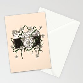 Vintage Camera Blooms Stationery Cards
