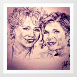 Debbie & Daughter Art Print