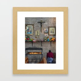 Woman Praying Framed Art Print