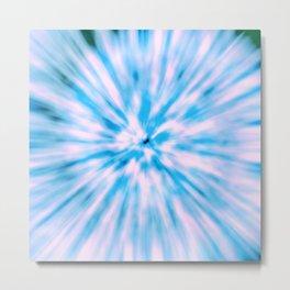 TIE DYE - LIGHT BLUE Metal Print