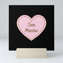 I Love San Marino Simple Heart Design Mini Art Print