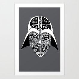 Celtic Vader Art Print