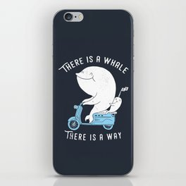 There is a whale iPhone Skin