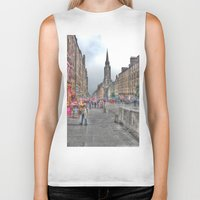 edinburgh Biker Tanks featuring Edinburgh by Christine Workman