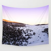 snow Wall Tapestries featuring Snow by Michelle McConnell