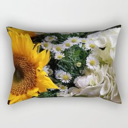 sunflower arragement Rectangular Pillow