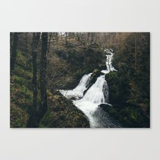 Colwith Force waterfall during heavy rain. Cumbria, UK. Canvas Print