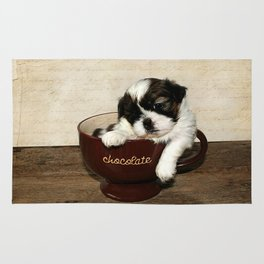 Cup of Puppy Rug