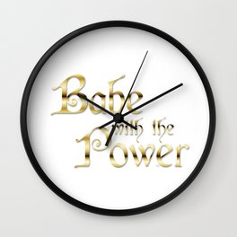 Labyrinth Babe With The Power (white bg) Wall Clock
