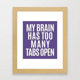 My Brain Has Too Many Tabs Open (Ultra Violet) Framed Art Print