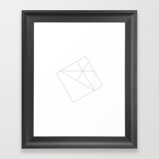 #167 Semi-permanent – Geometry Daily Framed Art Print