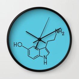 Serotonin Number Blue Wall Clock