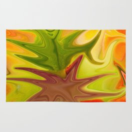 Abstract in Orange Rug