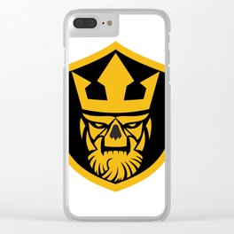 Neptune Skull Front Shield Clear iPhone Case