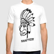 Shafted American White SMALL Mens Fitted Tee