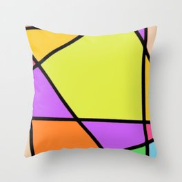 Glass Window Stained Throw Pillow