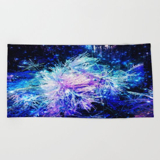 Galaxy Plant Beach Towel