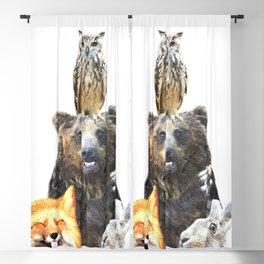 Woodland Animal Friends Blackout Curtain