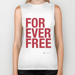 RX - FOREVER FREE - RED Biker Tank