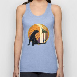 Jaguar Plain Art Deco Unisex Tank Top