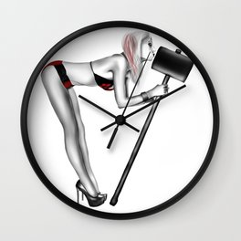 Kiss with a Bang Wall Clock